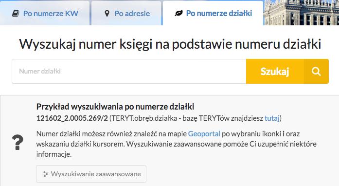 Ksiegi-wieczyste-online.pl - kw po numerze działki